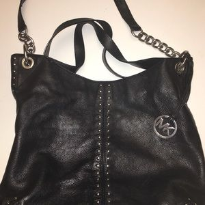 Michael Korda BlackPurse with Silver Studs/Chains